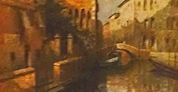 Anxiety Symptoms Montgomery, AL - watercolor painting of canal in Venice