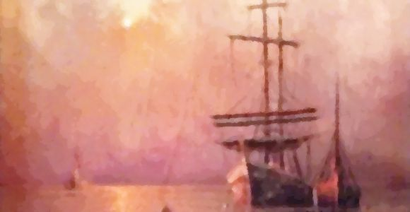 Benefits PTSD Treatment Montgomery, AL - watercolor of sailing ships under cloudy sky